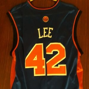 Mens Adidas New York Knicks David Lee #42 Jersey